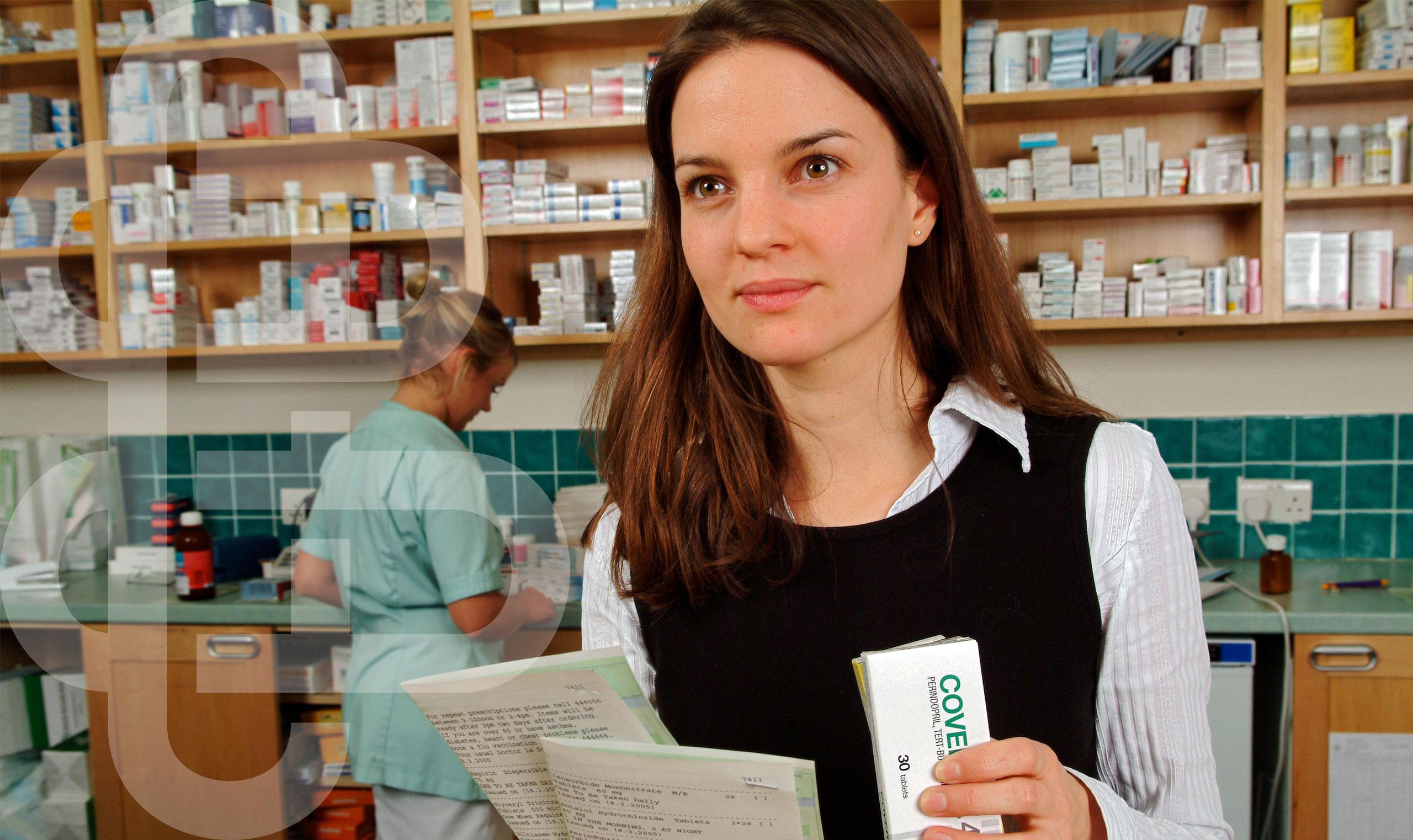 Pharmacist giving advice