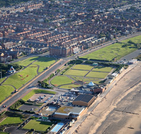 Aerial shot of Fleetwood