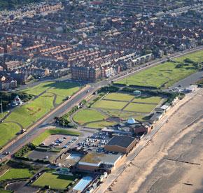 Aerial shot of Fleetwood